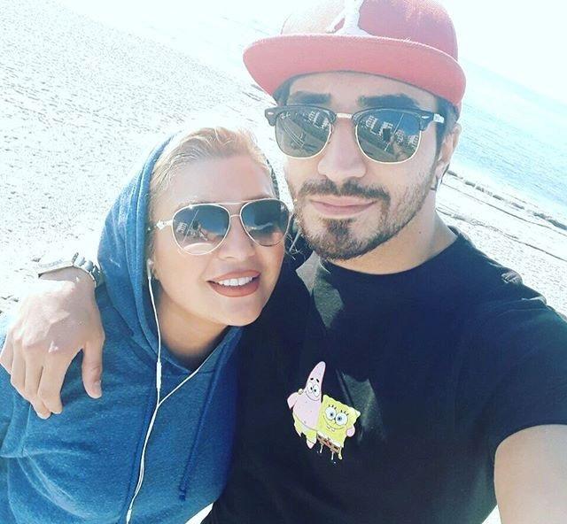 شهرزاد عبدالمجید و خواهر زاده اش یاشار