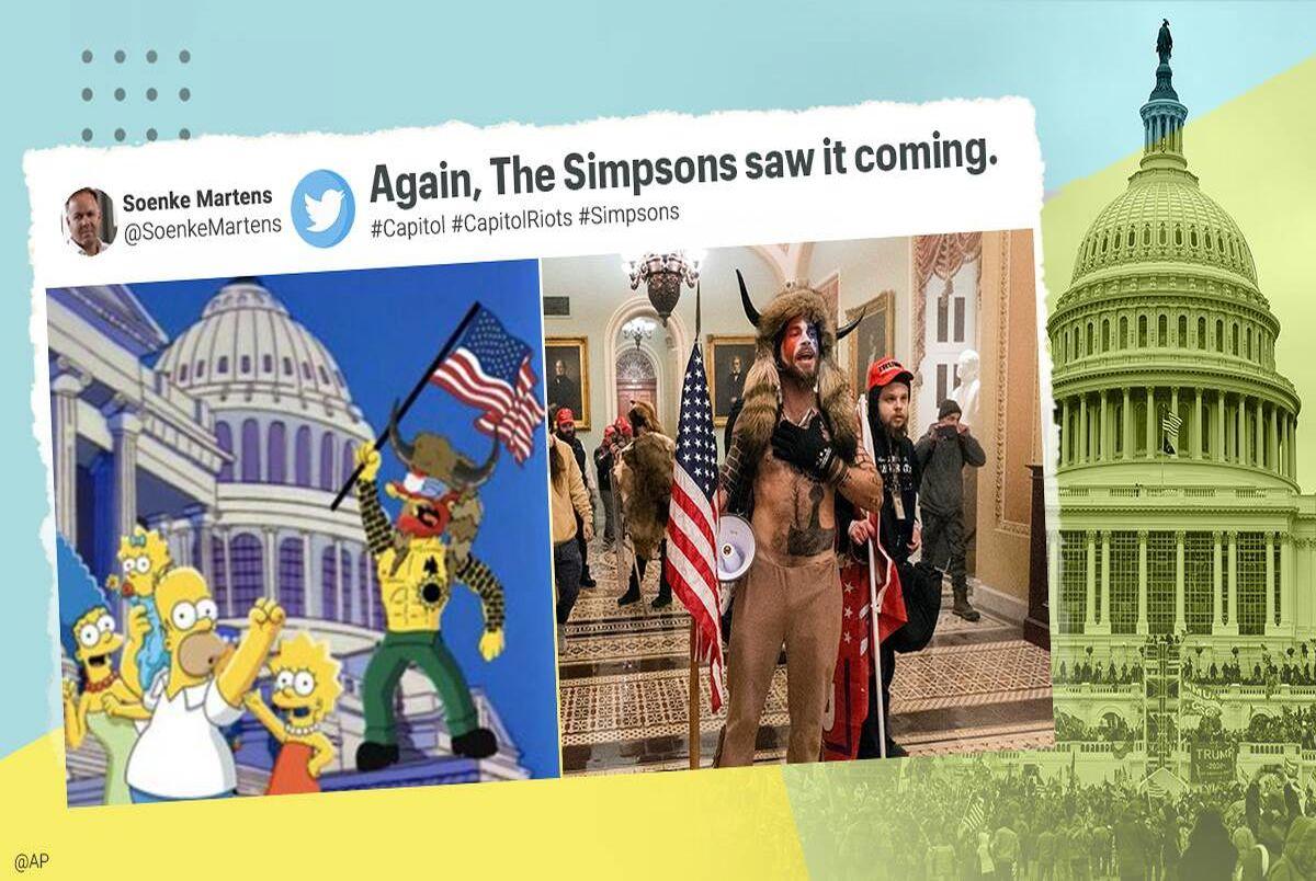 سیمپسون ها یورش به کنگره را هم پیش بینی کرده بودند!