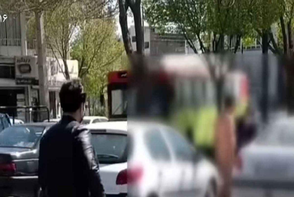 (عکس) دستگیری مرد لختِ لخت در میدان مرکزی اراک!