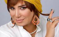 عکس مدلینگ خانم بازیگر با موهای بلوند، فر و بدون روسری!