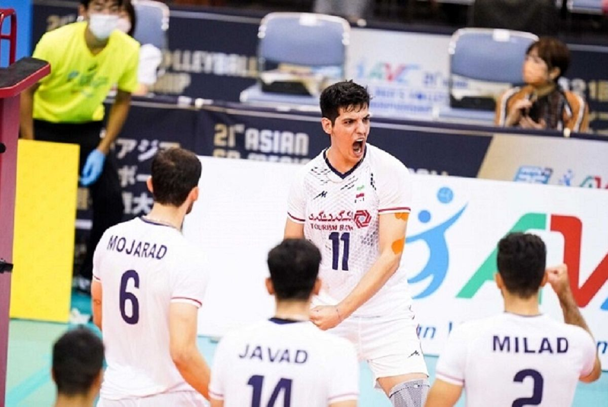 صابر کاظمی ارزشمندترین بازیکن/پنج ملی پوش والیبال ایران در جمع برترینهای آسیا