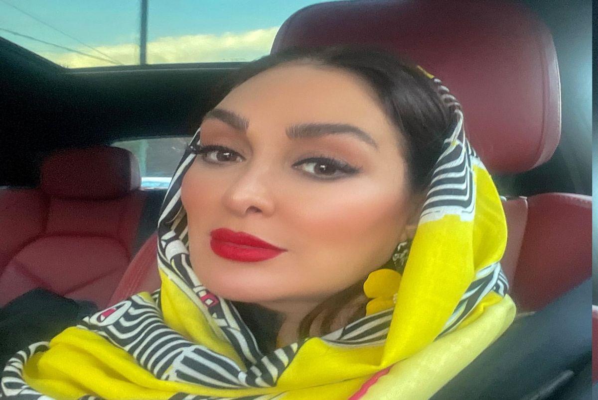 عاشقانه الهام حمیدی و همسرش