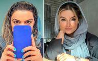 دنیا مدنی در آسانسور از موهای بلوندش رونمایی کرد!