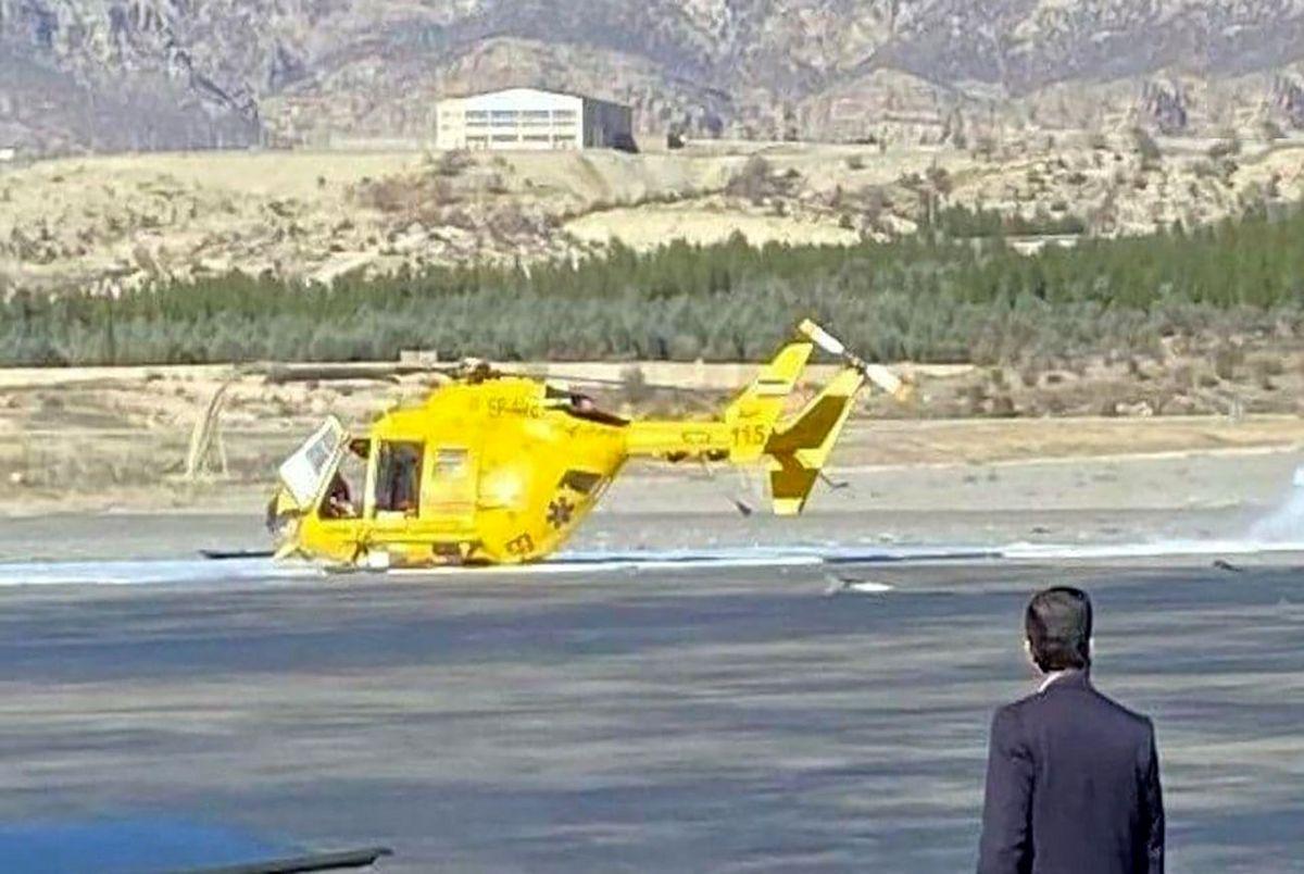 سقوط هلیکوپتر اورژانس در ایلام روز شنبه 25 بهمن