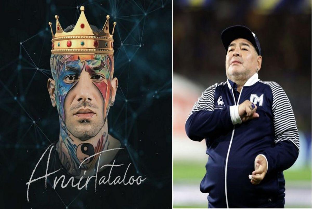 واکنش تتلو به درگذشت مارادونا؛ روح مارادونا در من تناسخ کرد!