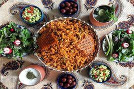 طرز تهیه لوبیا پلو مجلسی با گوشت تکه ای؛ خوشمزه و متفاوت