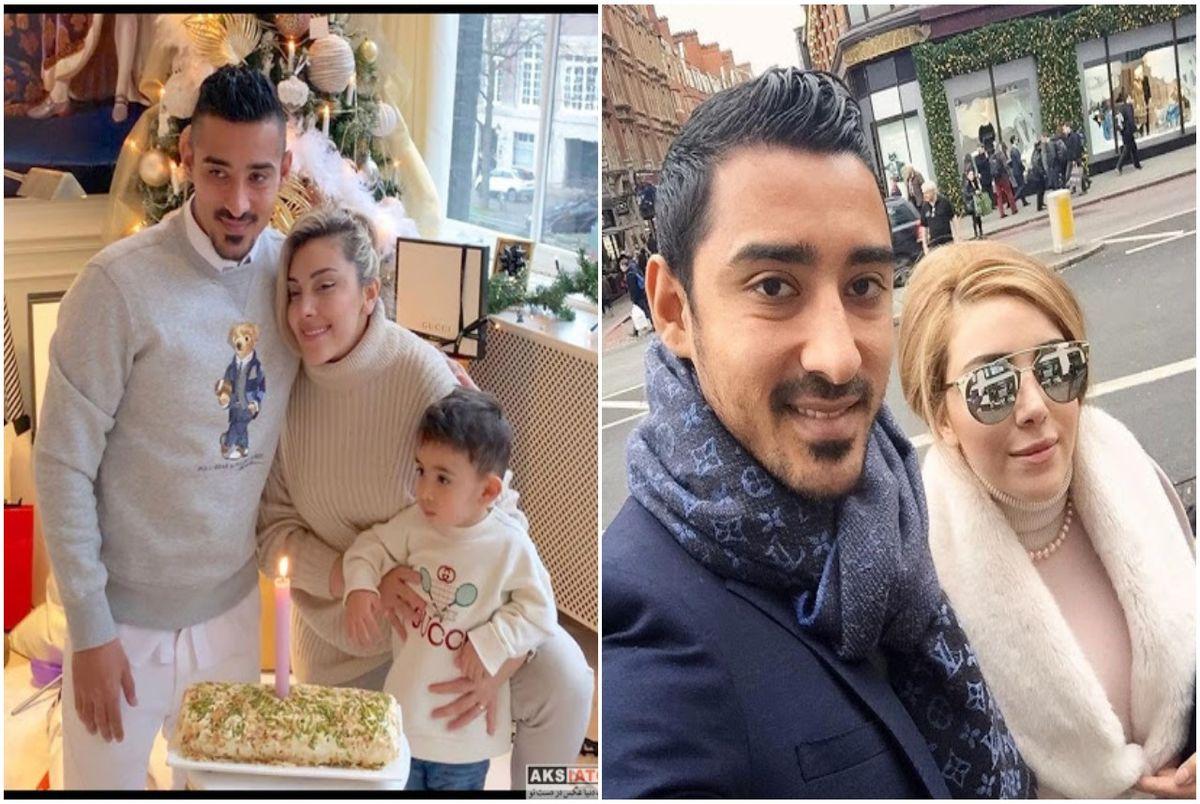 (عکس) برف بازی لاکچری رضا قوچان و نزاد و همسرش معروفش!